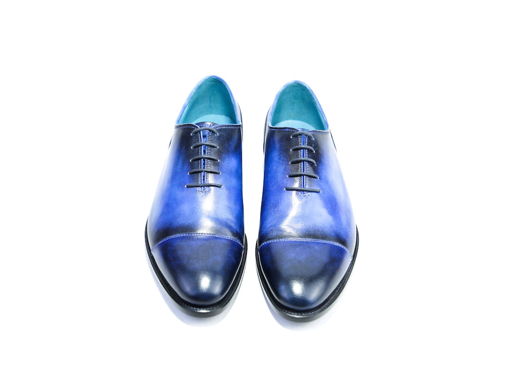 42 EEE CLASSIC SHOES, ROYAL BLUE PATINA - READY TO WEAR