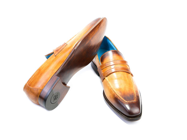 43 EE ALEX LOAFERS, COLONIAL & BROWN PATINA - READY TO WEAR
