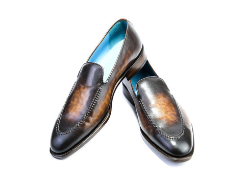 43 EEE BERNARD LOAFERS, ANTIQUE BROWN PATINA - READY TO WEAR