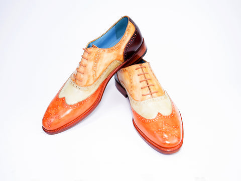 43 EEE COUNTRYMAN SHOES, THREE COLOUR PATINA - READY TO WEAR