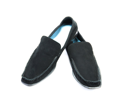 43 EEE BOXER LOAFERS, BLACK SUEDE - READY TO WEAR