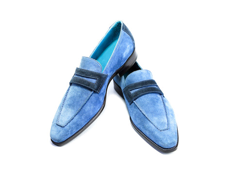 44 E ALEX LOAFERS, MARINA BLUE SUEDE - READY TO WEAR