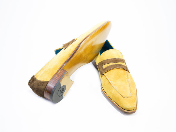 44 E ALEX LOAFERS, YELLOW SUEDE - READY TO WEAR