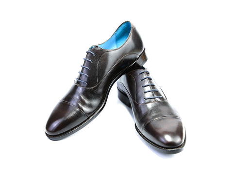 44 E CLASSIC SHOES, BLACK PATINA - READY TO WEAR