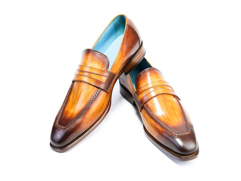 44 EEE ALEX LOAFERS, BROWN PATINA - READY TO WEAR