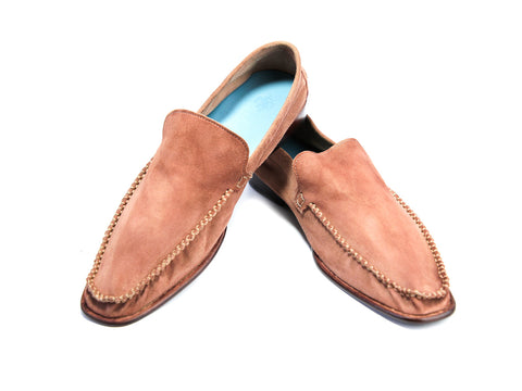 44 EEE BOXER LOAFERS, CORAL SUEDE - READY TO WEAR