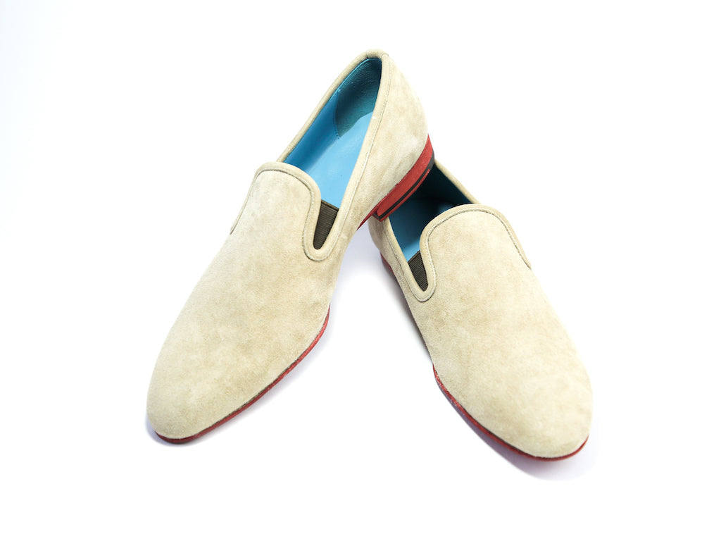 44 EEE MARTIAL SLIPPER LOAFERS, CAMELLO SUEDE - READY TO WEAR
