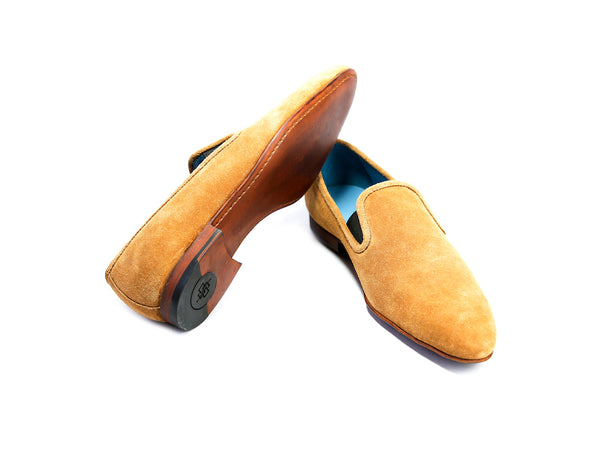 43 EEE MARTIAL SLIPPER LOAFERS, TOBACCO SUEDE - READY TO WEAR
