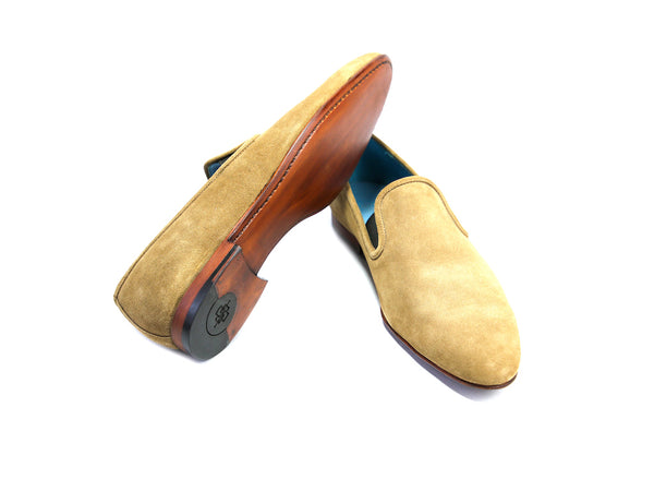 44 EEE MARTIAL SLIPPER LOAFERS, TOBACCO SUEDE - READY TO WEAR