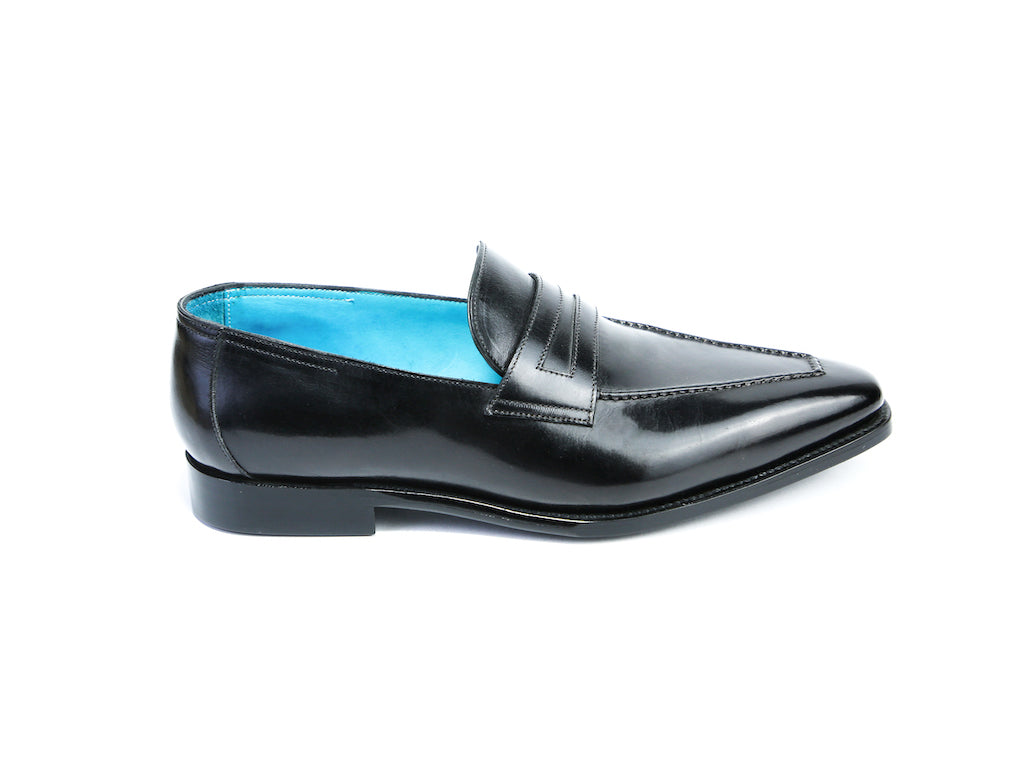 44 F ALEX LOAFERS, BLACK PATINA - READY TO WEAR