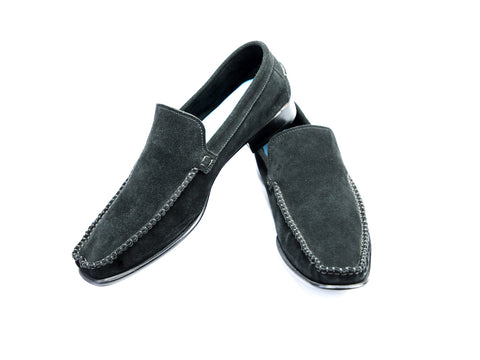 44 F BOXER LOAFERS, BLACK SUEDE - READY TO WEAR