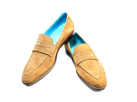 44 N ALEX LOAFERS, TOBACCO SUEDE - READY TO WEAR
