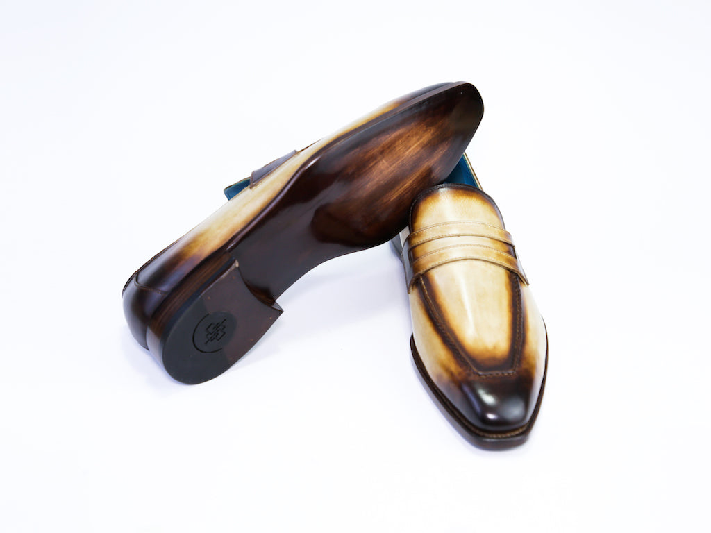 45 EEE ALEX LOAFERS, HAVANA PATINA - READY TO WEAR
