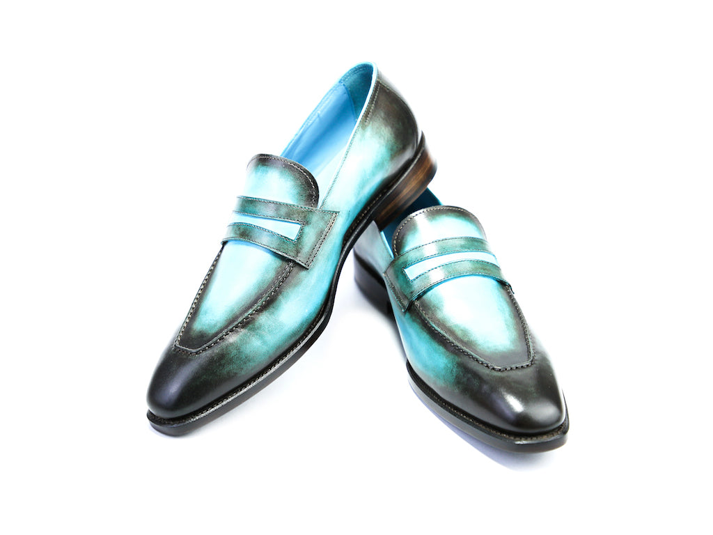 45 N ALEX LOAFERS, TURQUOISE PATINA - READY TO WEAR