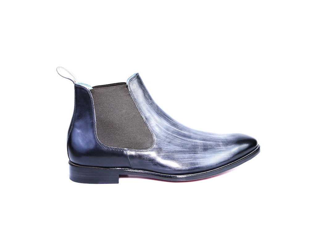 46 EEE GAUCHO BOOTS, GREY WASH PATINA - READY TO WEAR