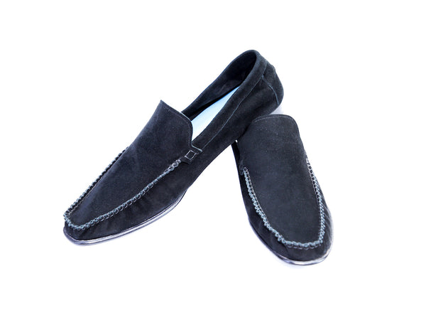 48 F BOXER LOAFERS, BLACK SUEDE - READY TO WEAR