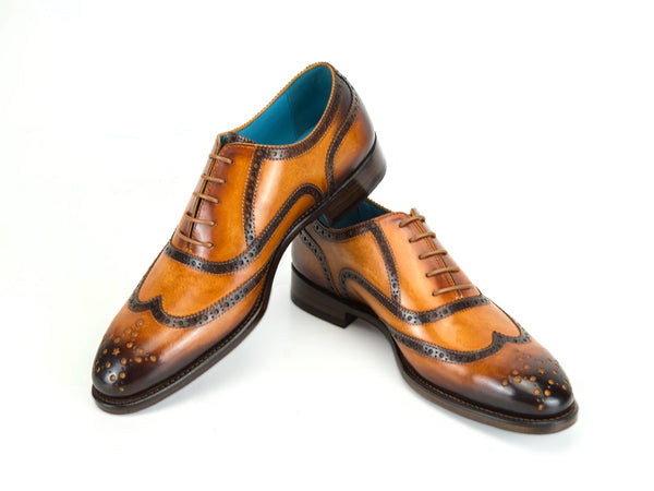 Brogue shoes with custom made colors hand painted