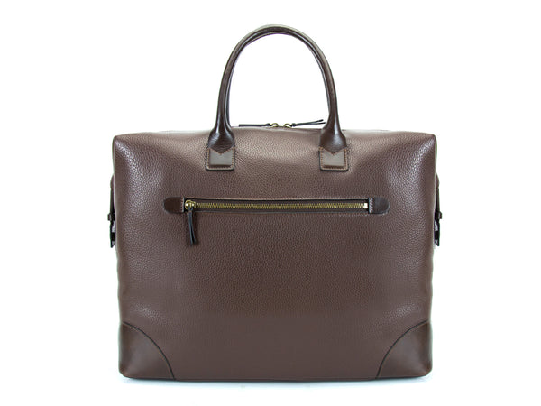 Canton leather weekend bag Italian leather in brown