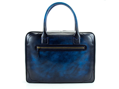 Charner leather business bag in custom made colors