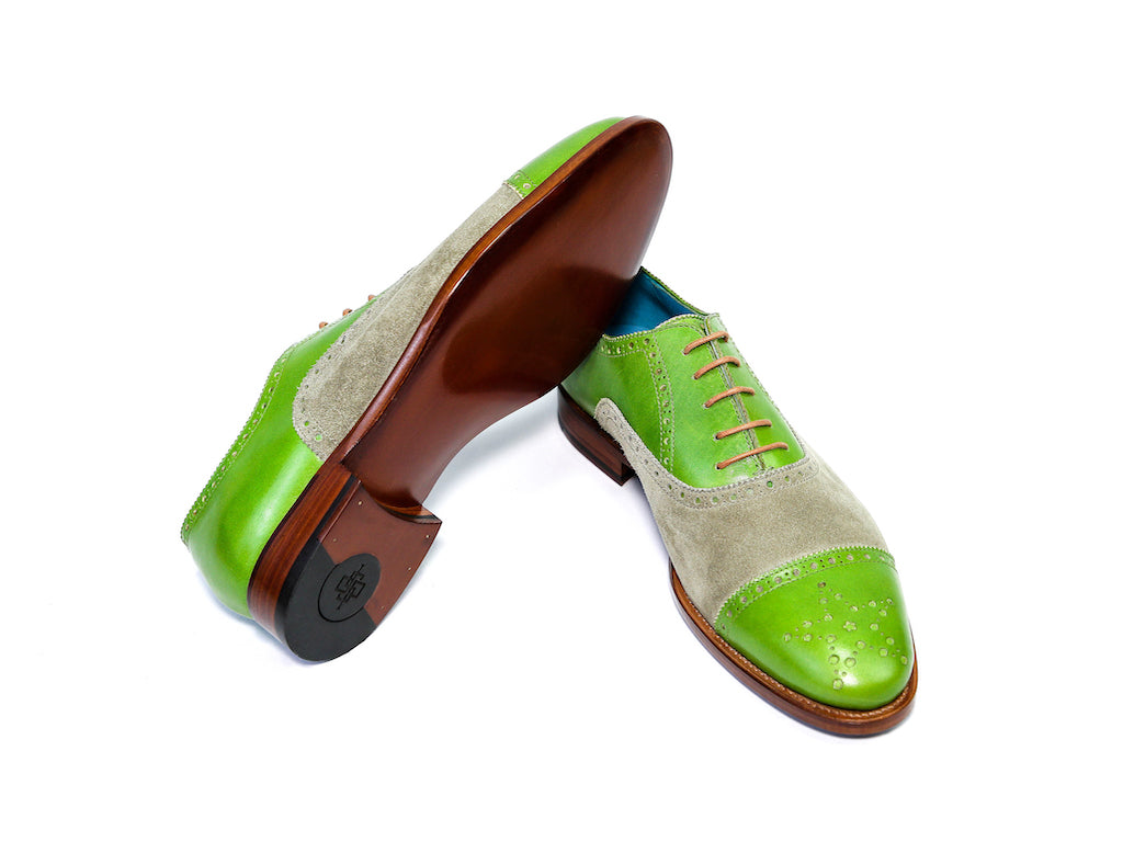 CITIZEN SHOES, LIME GREEN & MOSS SUEDE - READY TO WEAR