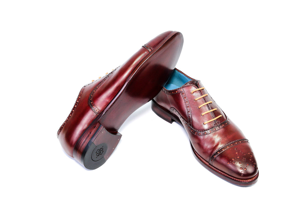 Citizen-Oxford-semi-brogue-shoes-Bordeaux-red-patina-39EE