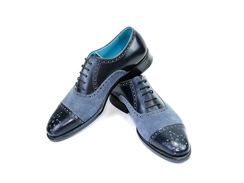 CITIZEN SHOES, BLACK & BLUE SUEDE - READY TO WEAR