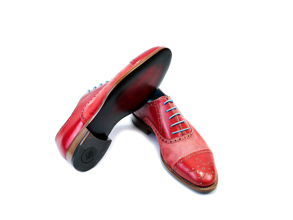 CITIZEN SHOES, RED SUEDE & PATINA - READY TO WEAR (38 EE)