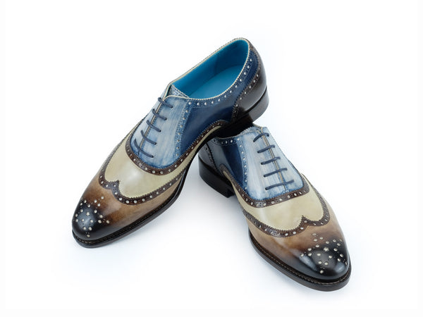 Citizen half brogue shoes hand coloured four colour patina