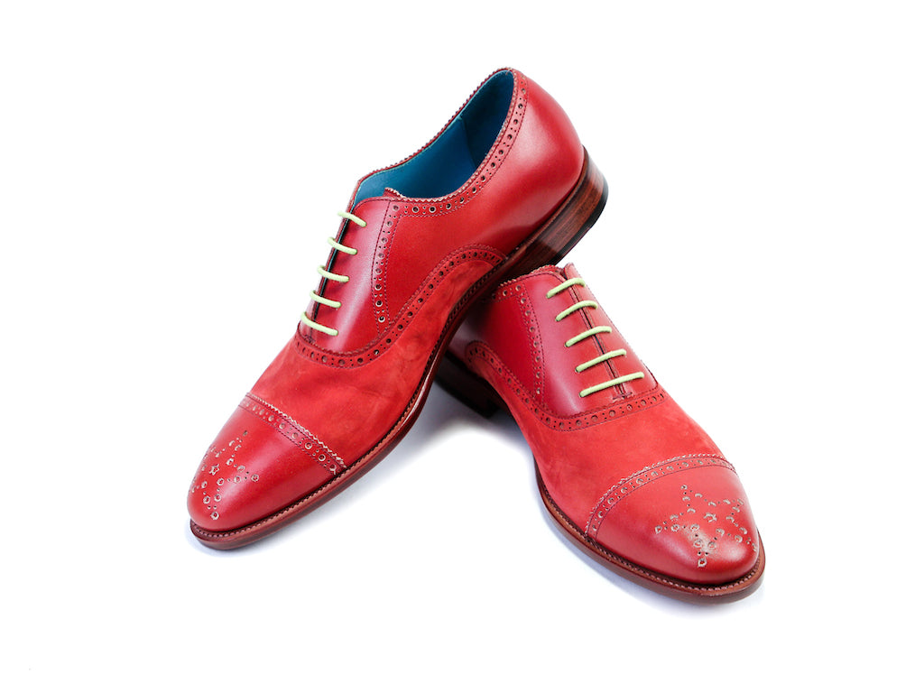 45 EEE CITIZEN SHOES, RED PATINA & NUBUCK - READY TO WEAR