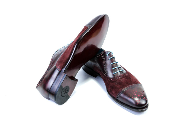 Citizen-semi-brogue-Oxford-shoes-Goodyear-welted-burgundy-45EEE