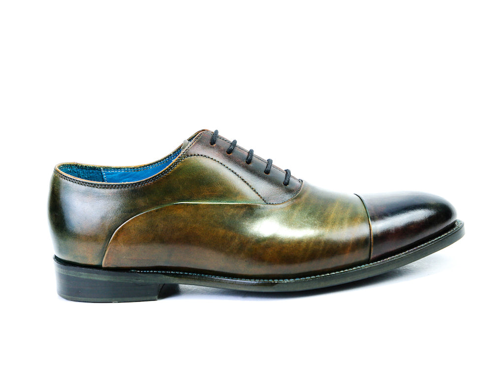 CLASSIC SHOES, GREEN & BROWN PATINA - READY TO WEAR (37 F)