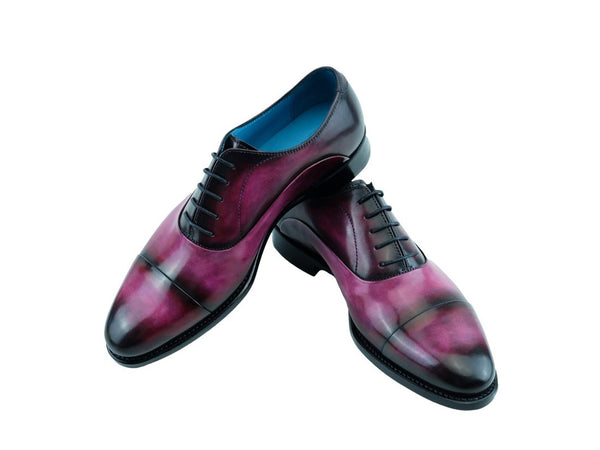 Classic Oxford custom made patina hand painted shoes
