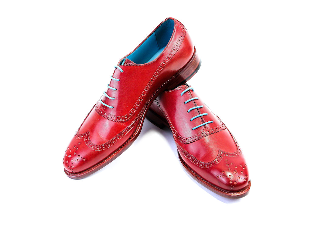 42 EEE CONDORE SHOES, RED PATINA - READY TO WEAR