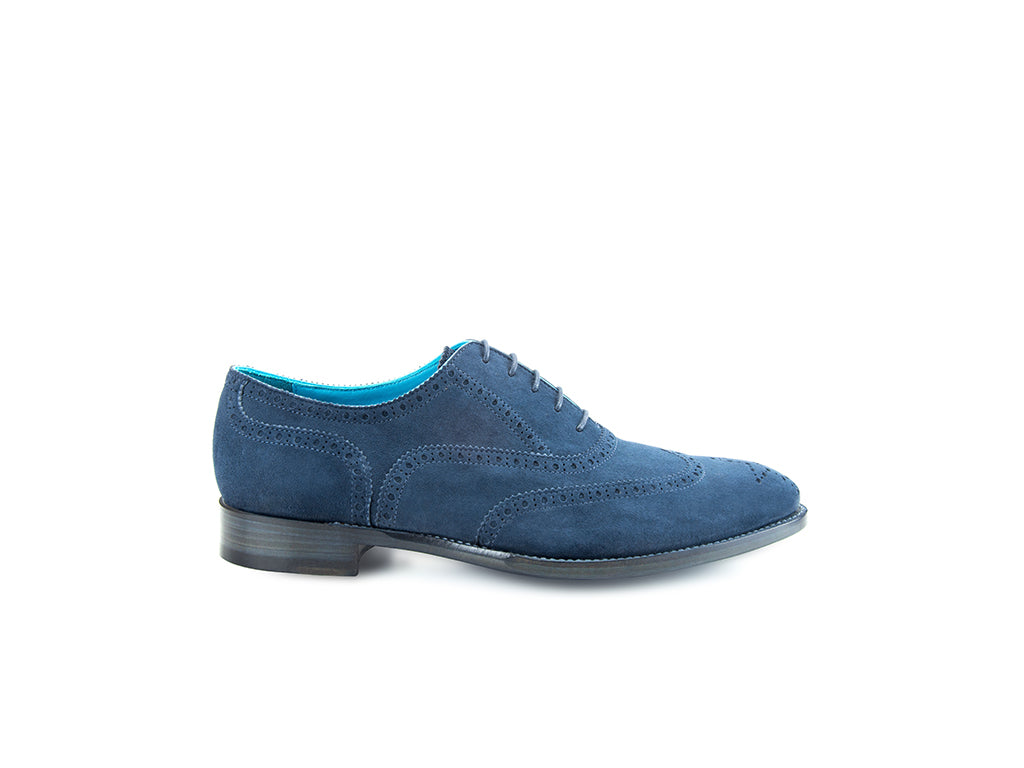 The Countryman Oxford brogue shoes in blue suede