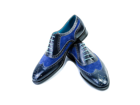 COUNTRYMAN SHOES, BLUE SUEDE & PATINA - READY TO WEAR (43 EEE)