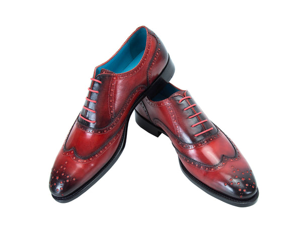The Countryman full brogue shoes in red patina