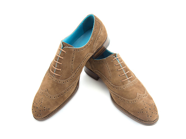 The Countryman Oxford brogue shoes in dark sand suede