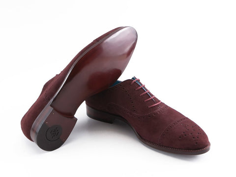 The Citizen half brogue shoes in Burgundy suede