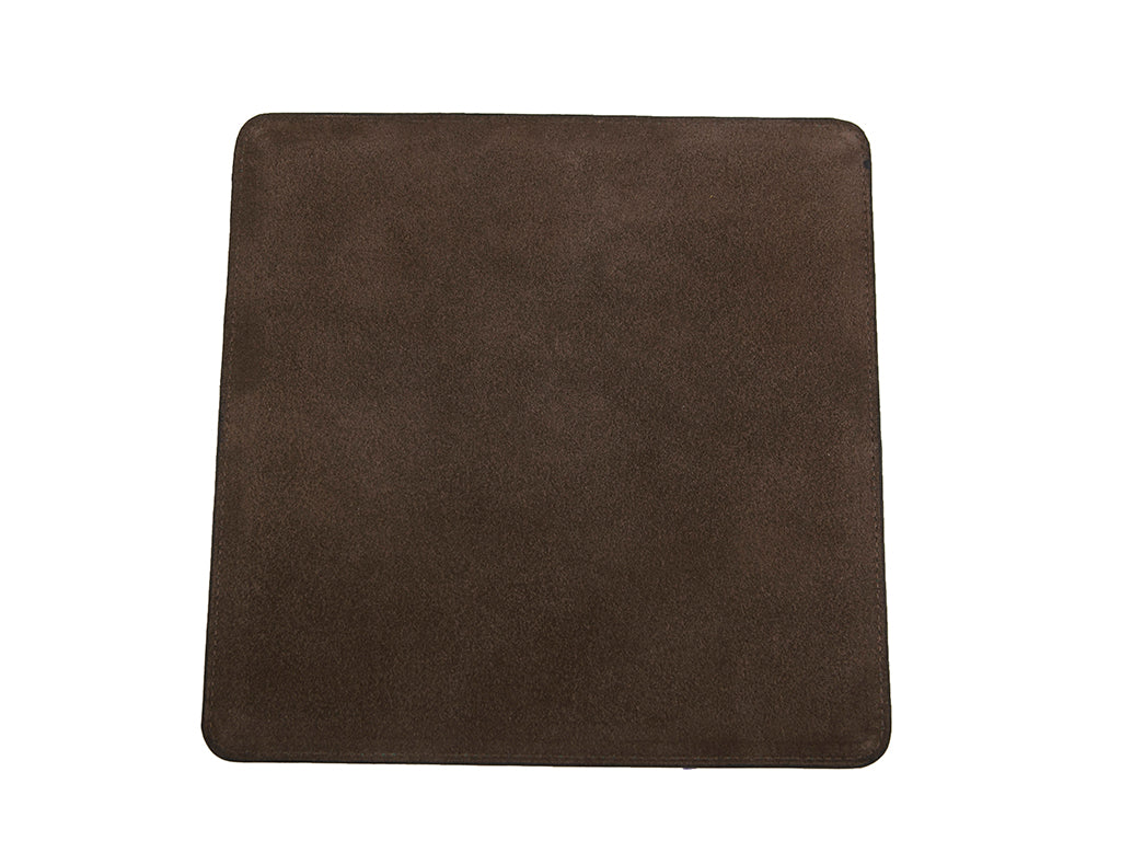 leather mouse mat hand painted patina in brown marble