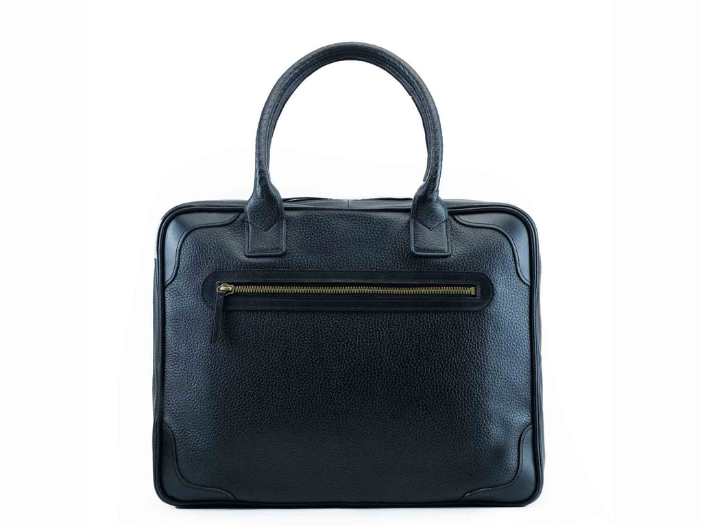 Filippini bag black pebble grain leather Dominique Saint Paul