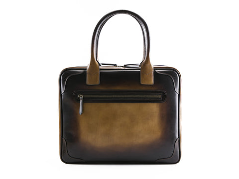 Filippini bag in testa di Moro patina hand painted leather
