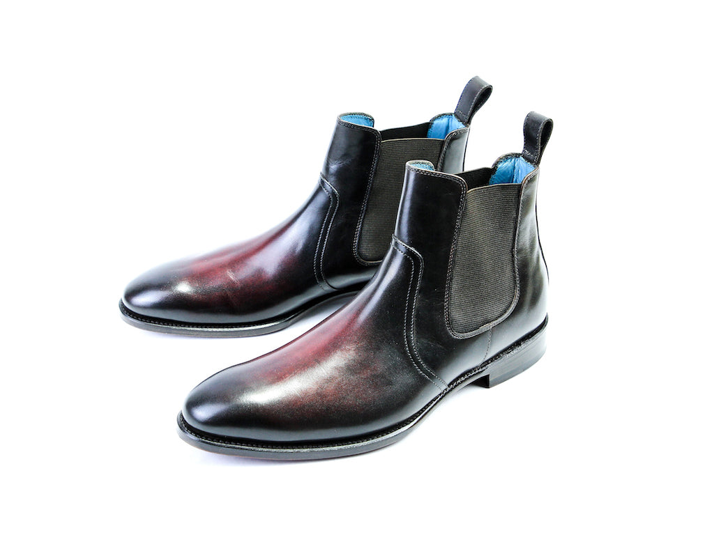 MADE TO ORDER GAUCHO BOOTS BORDEAUX PATINA
