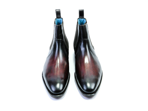 41 EE GAUCHO BOOTS BORDEAUX PATINA - READY TO WEAR
