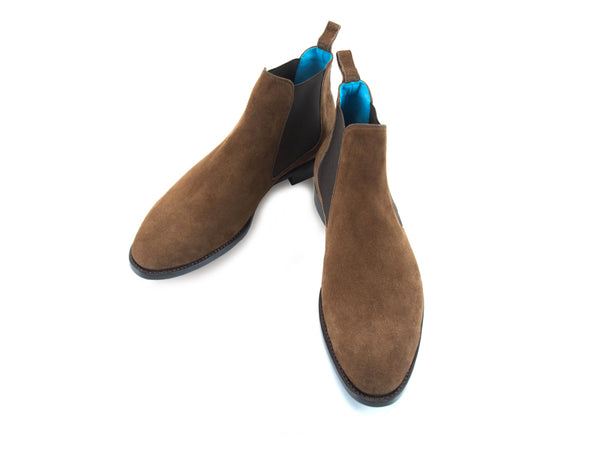The Gaucho Chelsea boots in chocolate Italian suede