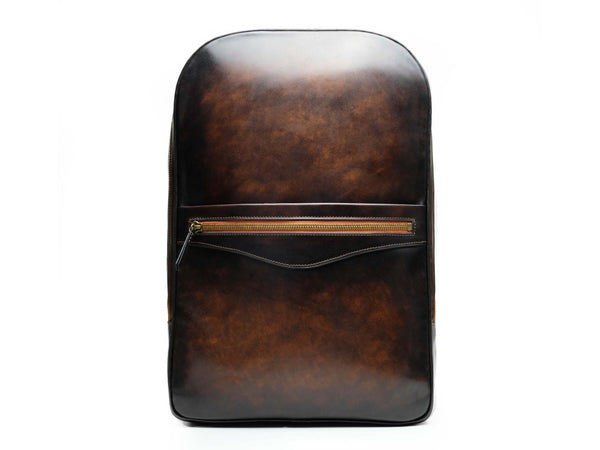 Halcyon leather backpack in custom made colors