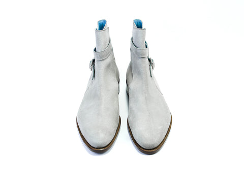 MADE TO ORDER JODHPUR BOOTS GREY SUEDE