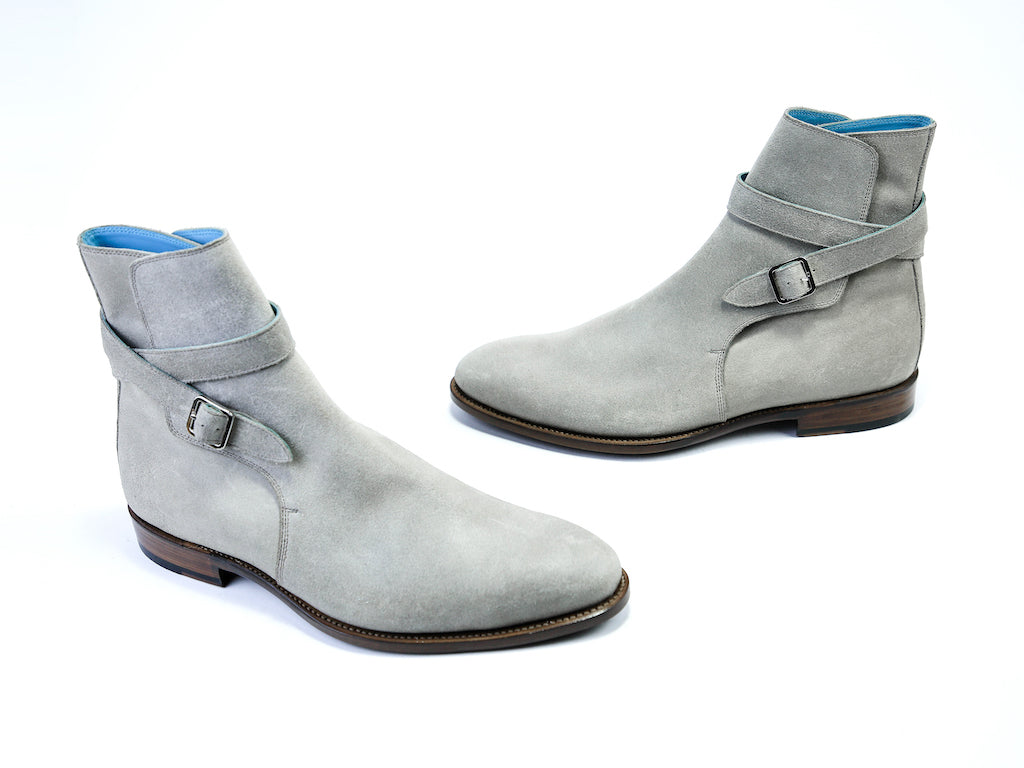 41 EE JODHPUR BOOTS GREY SUEDE - READY TO WEAR
