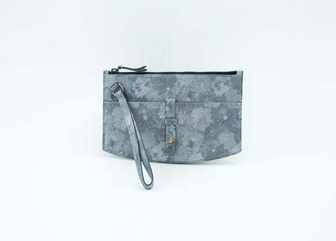 Juliette clutch bag in exotic floral print leather