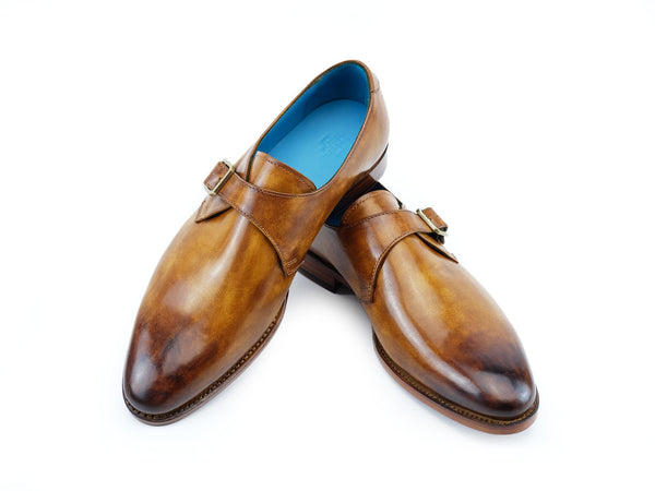 Minister single monk handmade shoes custom made in oak hand colored patina by Dominique Saint Paul Saigon