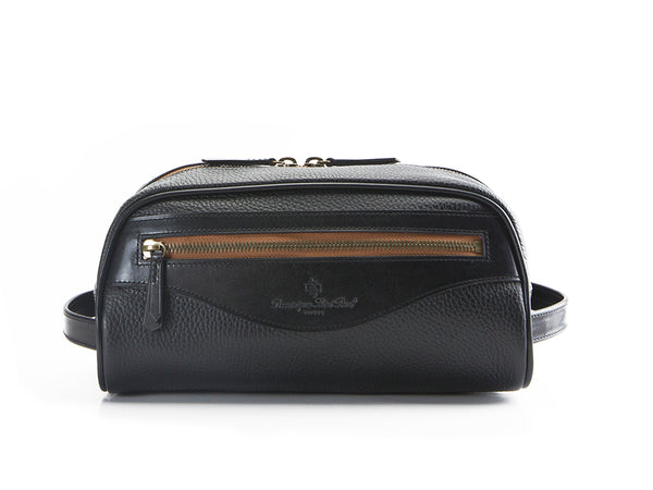 Montagnard leather day bag in black